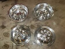 """16"""" STAINLESS STEEL WHEEL SIMULATORS SET OF 4 ford chevy dually covers"""