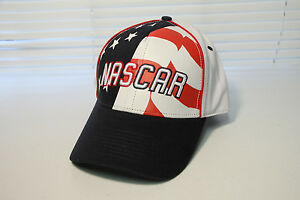 NASCAR Racing HAT CAP - Sprint Cup Speedway Race american USA Flag - NEW