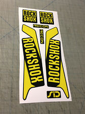 Ad. forcella Rock Shox SID RECON giallo luc.  - adesivi/adhesives/stickers/decal