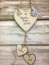 """Personalised """"Happily Ever After""""sign wall plaque wedding engagement gift"""
