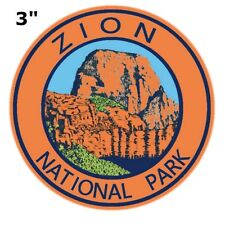 Zion National Park Utah Embroidered Patch Iron / Sew-On Souvenir Gear Applique