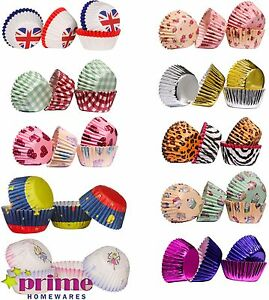 100 Mini Cupcake Cases Quality Paper Baking Multi Design Colours Christmas Party