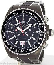 Mens GUESS COLLECTION Black Carbon Fiber Sport Swiss Chronograph Watch I46001G2