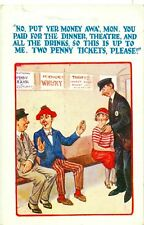 POSTCARD COMIC No put yer money awa' mon....