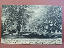 Old Postcard MA  Springfield State Street East view 1906