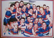 1954 Footscray Bulldogs Team Premiership Limited Edition print Signed by Artist