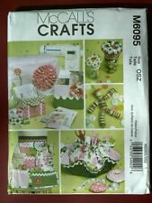 McCall's Pattern 6095 Sewing Machine Cover, Apron, Pattern Boxes, Containers