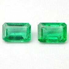 0.95 Carats MATCHED PAIR Polished GREEN BERYL EMERALD