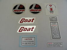Rupp minibike #45031 1969 GOAT DECAL SET (9 DECALS) Complete Set, REPRO