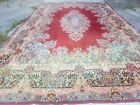Antique Oriental Carpet 10x17 Rug Red Colorful Shabby Chic Wool Signature XLarge