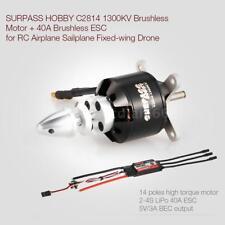 SURPASS HOBBY 2814 1300KV 14 Poles Brushless Motor & 40A ESC 2-4S T1K7