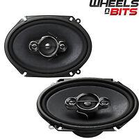 "Pioneer TS-A6880F 6"" x 8"" 4-way Custom Fit Coaxial Car Audio Speakers 350W"