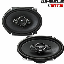 "Pioneer TS-A6834i 6"" X 8"" Custom Fit car audio speakers 350W Ford Jaguar Mazda"