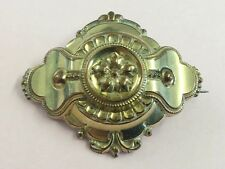ANTIQUE ROLLED GOLD GRAND PERIOD VICTORIAN BROOCH PIN 1880