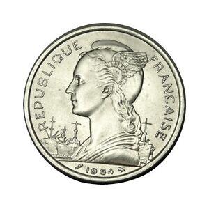 elf French Comoros 5 Francs 1964 Ship