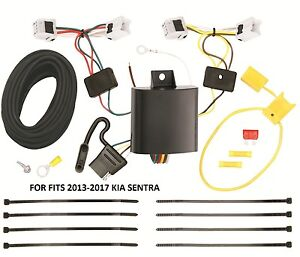 Trailer Wiring Harness Kit For 13-19 Nissan Sentra 14-19 Versa Note All Styles