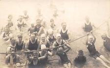 RPPC SALTAIR BEACH Swimming 1920s Bathing Suits Great Salt Lake Vintage Postcard