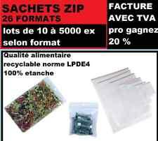 10.000  Pochettes  Sachets Zip 40 X 60 Mm 50 microns