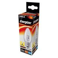 ENERGIZER 40W 60W 100WATT CANDLE CLEAR BULB SCREW ES/ E27 EDISON SCREW HALOGEN