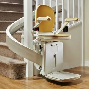 Reconditioned curved stairlift, installed with 12 month warranty'