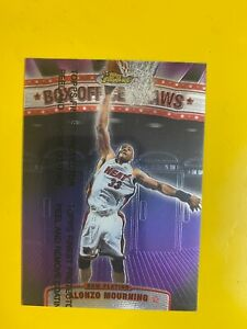 9034  1999-00 Finest Box Office Draws #BOD8 Alonzo Mourning