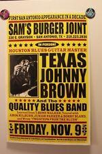 TEXAS JOHNNY BROWN San Antonio TEXAS (2007) Concert Poster BLUES houston Duke