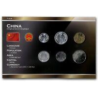 CHINA 6 COINS SET: 1, 2, 5 FEN, 1, 5 JIAO, 1 YUAN 1955-2010 UNC