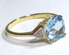 Topaz Solitaire with Accents Fine Rings