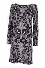 TEMPERLEY LONDON Black Pink Lace Print Shift Dress (8)