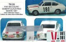 Transkit 1/43 FIAT 850 COUPE' RALLYE MONTECARLO 1967  Arena Tk20