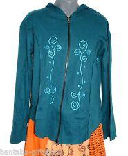 Jacke mit Zipfel Kapuze_Jacket with long hoodie_Hippie, Goa, Elfen,Psy, Boho