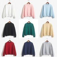 Women Lady Casual Long Sleeve Hoodie Sweatshirt Jumper Pullover Tops Shirt Coat