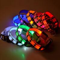 Ee _ LED Collar para Cachorro Brillante en la Oscuridad Mascota Noche Seguridad