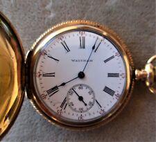 ANTIQUE 1896 WALTHAM GOLD FILLED HUNTER CASE POCKET WATCH