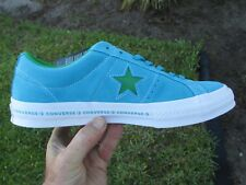 Converse ONE STAR OX  SUEDE HAWAIIAN OCEAN BLUE / GREEN 159813C  SIZE 10.5 MEN'S