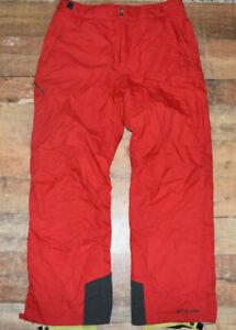 Columbia Mens Size XL Snow Pants Red Bugaboo Snow Ski Pants Nylon EUC B34