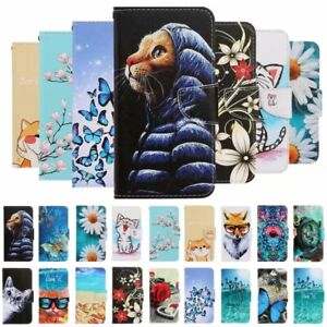 For iphone SE 2020 11 Pro Max XR 7 Painted Wallet Flip Leather Phone Case Cover
