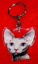 porte-cles chat sphynx 2 cat keychain llavero gato schlusselring katze