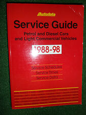 AUTODATA TECHNICAL SERVICE GUIDE MANUAL REPAIR TIMES SCHEDULES DATA 1988-1998