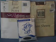 Pantyhose Pairs Womens Queen Size 3X Just My Size Velan Hanes Stockings Plus