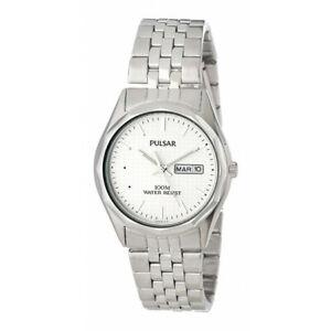 Pulsar Dress White Dial Stainless Steel Men's Watch PJ6029