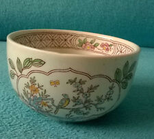 Vintage Adams Calyx Ware Singapore Bird Sugar Bowl Real English Ironstone