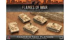 Flames of War: Afrika Korps Panzer III Tank Platoon (Plastic)