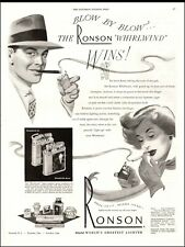 1949 vintage tobacco AD RONSON Cigarette lighters Whirlwind Windshields  020320