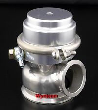 60MM 7 PSI Wastegate Turbo 304 Stainless Steel Dump Valve V Band Silver