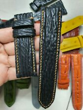 BLACK SHARK GENUINE LEATHER SKIN WATCH STRAP BAND 24MM/22MM handmade