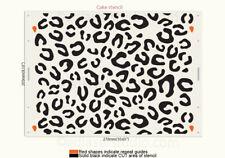 Leopard Stencil Cake Wedding Birthday Decorate Pattern Reusable Template TE501
