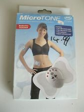 MicroTone pocket sized electronic toning system, stimulates muscles, fitness aid