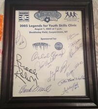 2005 Youth Skills Clinic Autograph Sheet Signed by 12 BUCK O'NEIL CEPEDA PERRY