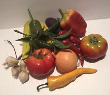 16 Fake Faux Vegetables Harvest Decorative Mixed Lot Plastic